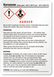 Kerosene Danger - Medium GHS Chemical Label