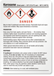 Kerosene Danger Medium GHS Chemical Label