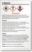 N Hexane Danger Large GHS Chemical Label