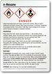 N Hexane Danger Medium GHS Chemical Label