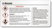 N Hexane Danger Small GHS Chemical Label