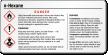 N-Hexane Danger Small GHS Chemical Label