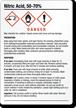 Nitric Acid 50-70% Chemical GHS Label, 5in. x 3.5in.