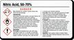 Nitric Acid 50-70% Chemical GHS Label, 2in. x 3.75in.