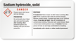 Sodium Hydroxide Small GHS Chemical Label