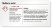 Sulfuric Acid Danger GHS Chemical Label, Small