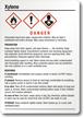 Xylene Danger Medium GHS Chemical Label