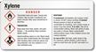 Xylene Danger GHS Small Chemical Label
