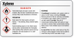 Xylene Danger Small GHS Chemical Label