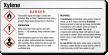 Xylene Danger Tiny GHS Chemical Label