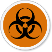 Biohazard Symbol ISO Circle Sign