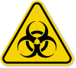 ISO Biohazard Symbol Warning Sign