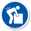 Lifting Hazard ISO Symbol Sign