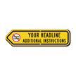 Add Your Custom Headline Left Arrow Sign