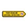 Add Your Custom Headline Right Arrow Sign