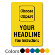 Choose Clipart, Add Headline and Instructions Label