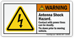 Antenna Shock Hazard, ANSI Warning Label