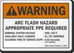 Arc Flash Hazard PPE Required Custom ANSI Warning Label