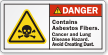 Contains Asbestos Fibers Cancer And Lung Hazard Label