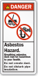 Breathing Asbestos Dust Hazardous to Health Label