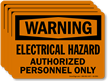Electrical Hazard Authorized Personnel Only OSHA Warning Label