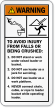 Avoid Injury From Falls Operating Loader Warning Label