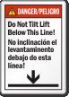 Bilingual Don't Tilt Lift Below This Line Label