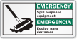 Bilingual Spill Response Equipment Emergency Label