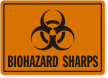 Biohazard Sharps Label