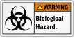 Biological Hazard ANSI Warning Label