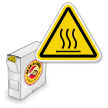 ISO Burn Hazard Hot Surface Grab-a-Labels Dispenser Box