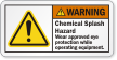 Chemical Splash Hazard Wear Eye Protection Warning Label
