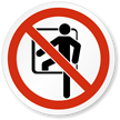 Confined Space Symbol, ISO Prohibited Action Label