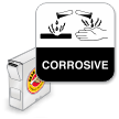 Corrosive Grab-a-Label (with DOT Picto)