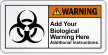 Personalized ANSI Biological Warning Label
