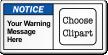 Custom Message ANSI Notice Label