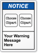 Custom Message ANSI Notice Label, Choose 2 Cliparts