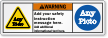 Custom Text, Picto ANSI Warning Label