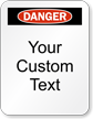Customizable Danger Padlock Label