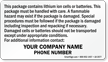 Custom Lithium Battery Safety Document