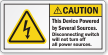 This Device Powered By Several Sources Caution Label