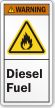 Diesel Fuel ANSI Warning Label
