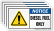 Diesel Fuel Only Label