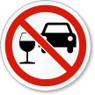 Don't Drink And Drive ISO Prohibition Symbol Label