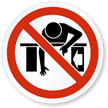 Do Not Reach Into ISO Prohibited Action Label