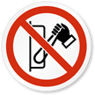 Do Not Switch On ISO Prohibited Action Label