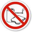 ISO Do Not Eat, Drink Or Smoke Label
