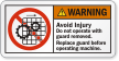 ANSI Machine Warning Label