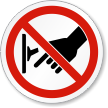 Do Not Turn Off Switch ISO Prohibition Label