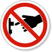 ISO Don't Turn On Switch Prohibition Symbol Label
